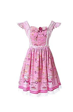 Amazon Lemail Womens Lolita Dress Plus Size Vintage Pink Lolita