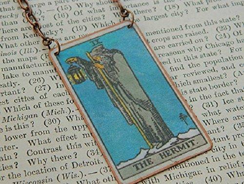 Tarot necklace The Hermit tarot -
