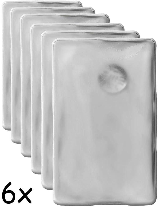 6 cojines de calor HomeTools.EU®, calentador de gel duradero, reutilizable, 10 x 6,5 cm