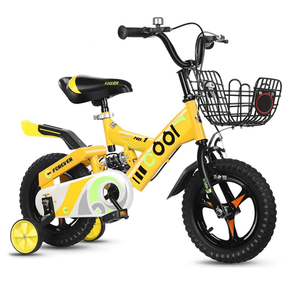 無声補助車輪が付いている子供の自転車2-3-5-6歳の男の子の女の子の自転車 16in 2 B07QVXM1N5