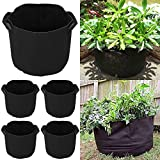 Yaheetech 5 Pack 5 Gallon Grow Bags Fabric Pots Plant Pot Fabric Planter with Strap Handles Review