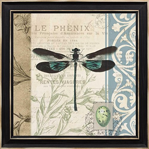 Cart 14 Inkjet (14x14 CART dragonfly by Grey, Jace: Distressed Classic Black JG-SQ-138B)