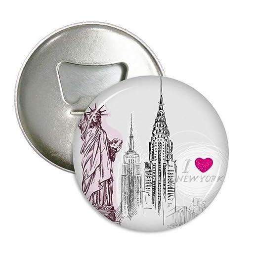 I Love nueva york américa país ciudad redondo abridor de botellas ...