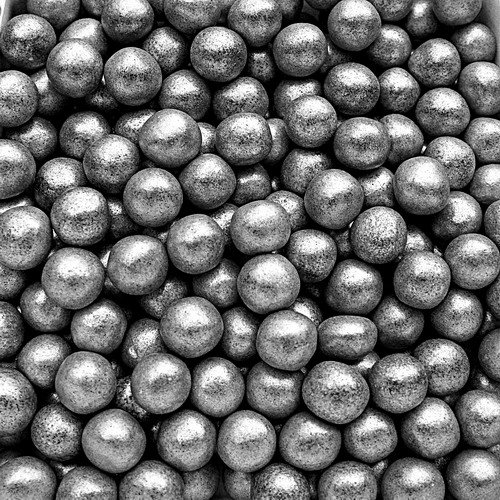 Natural Color Silver Dragees Edible Pearls 6mm cake cupcake decorations - Edible Silver Pearls