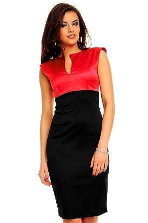 0a7099b433e6 Knielanges Kleid Businesskleid Abdendkleid Minikleid Festkleid Cocktailkleid  S (34) Amareno-Schwarz