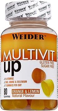 Joe Weider Victory Multivit Up 80 gummies, Sabor naranja y limón, Sin azúcares y sin gluten, Gominolas de vitaminas y minerales: Amazon.es: Salud y cuidado personal