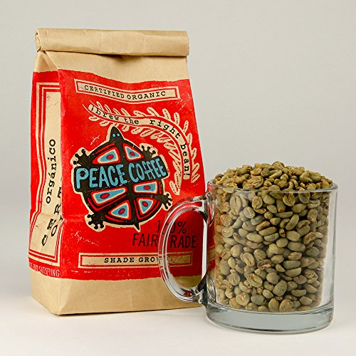 Peace Coffee Fair Trade Certified Organic Green Unroasted Coffee Beans for Home Coffee Roasting (Peruvian Fair Trade Organic)