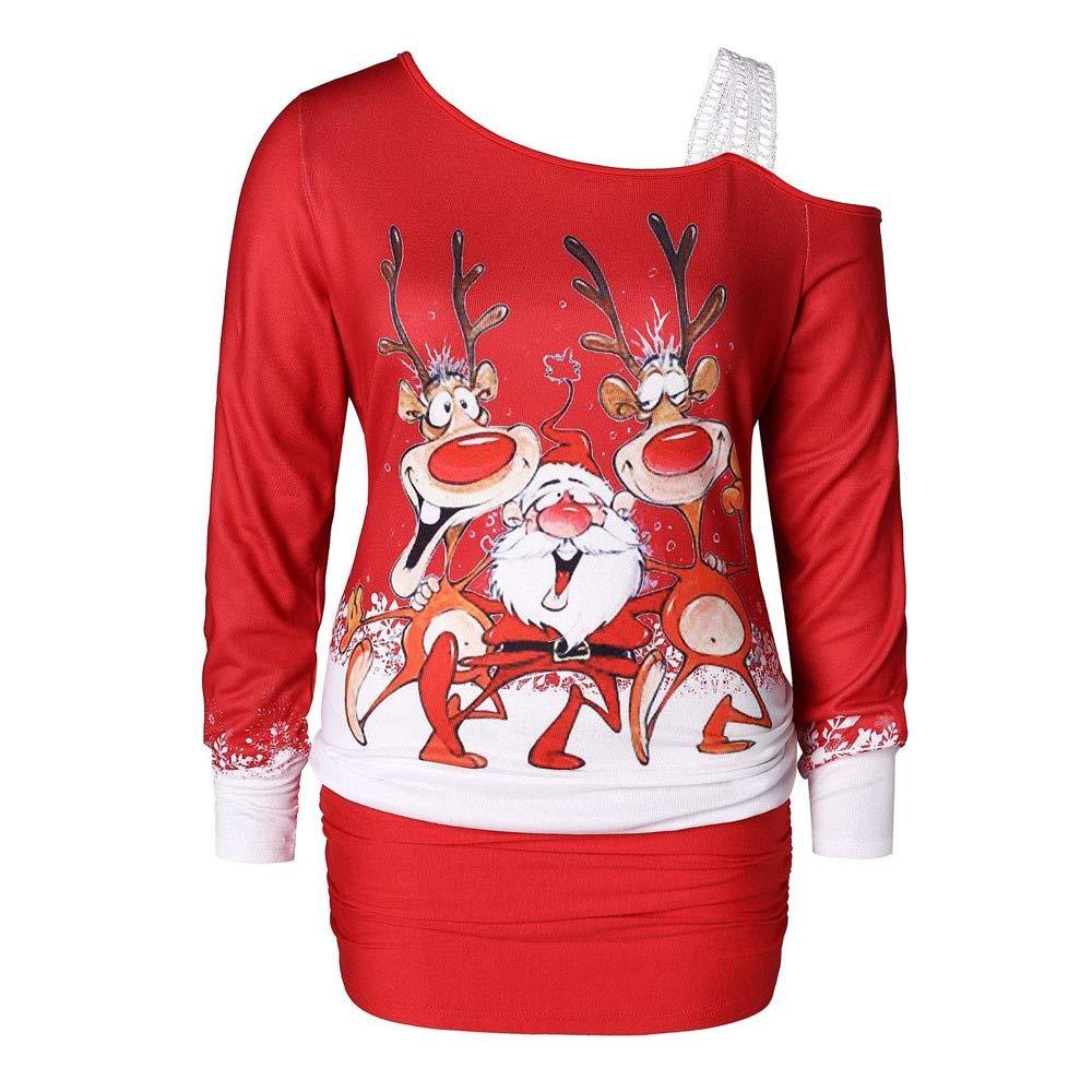 Damen Undicht Schulter Maxikleid Weihnachten Kleid Frauen Partei Kleider Dress Ladies Lange Rock Ghmedilmn