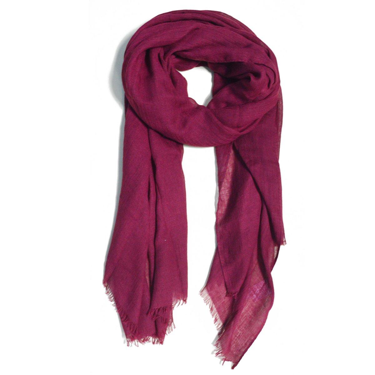 LABANCA Kids Winter Warm Fashion Scarf Linen Neck Scarf Burgundy