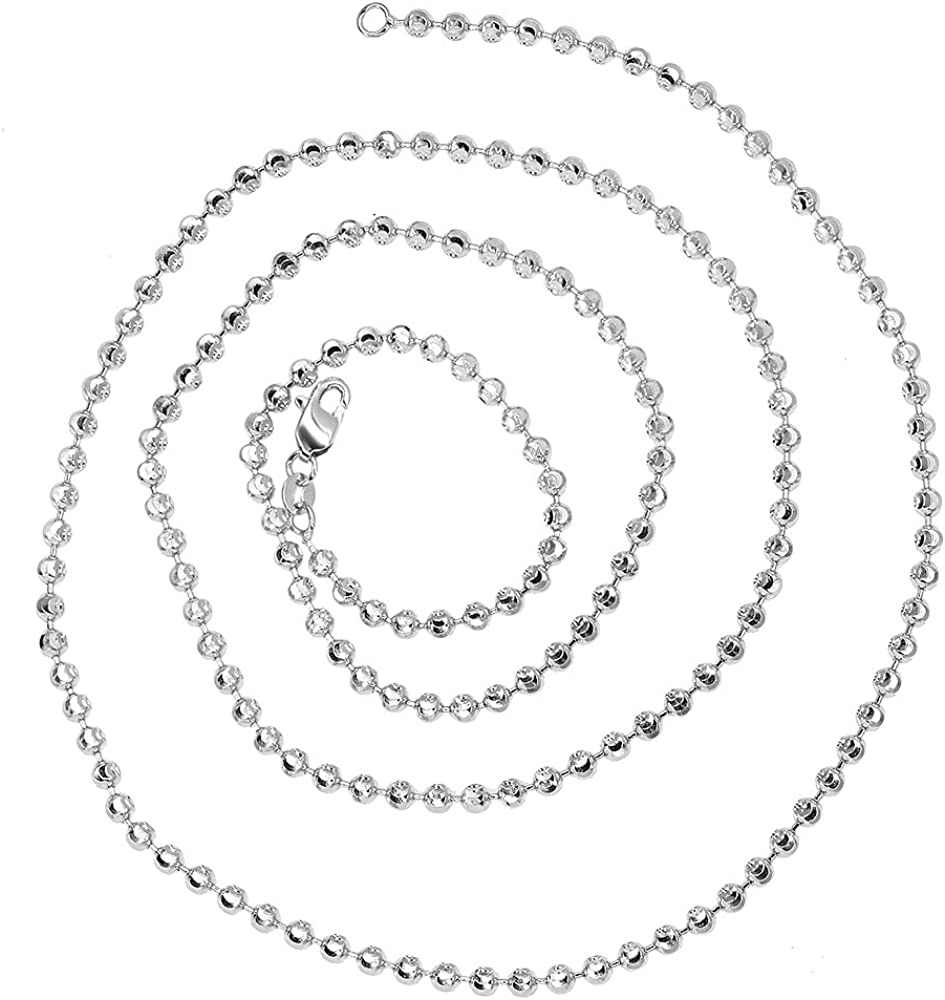 IcedTime 10K White Gold Singapore Chain 20 inch long