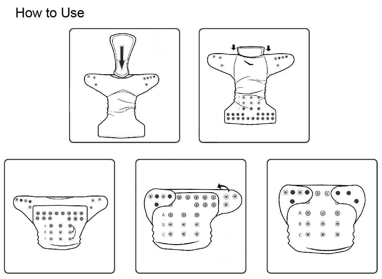 waschbar 12 Einlagen 6DM23-EU 6 Windeln wiederverwendbar Alva Baby-Windeln