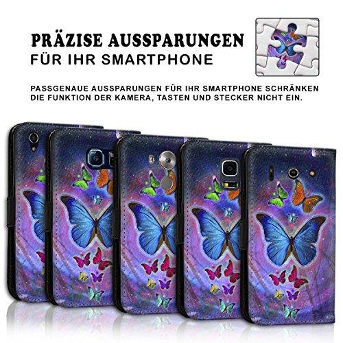 Wallet Book Style Flip Handy Tasche Case Schutz Hülle Schale Motiv Etui für Apple iPhone 4 / 4S - Design Flip MV120