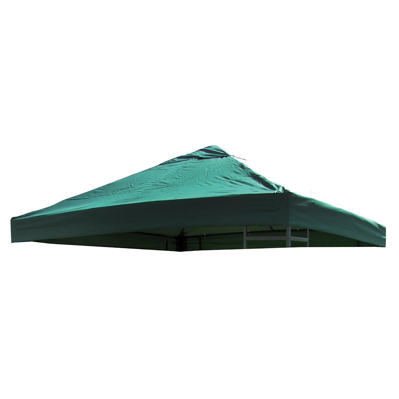 FineHome Tetto di Ricambio Universale per Gazebo 3 x 3 m Rivestimento in PVC 220 g Poliestere con Aria Colore Verde Impermeabile