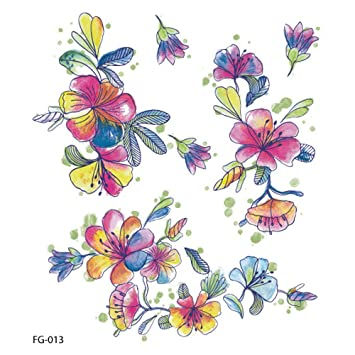 Amazon Com Women Temporary Tattoos Mixed Style Flowers Butterflies