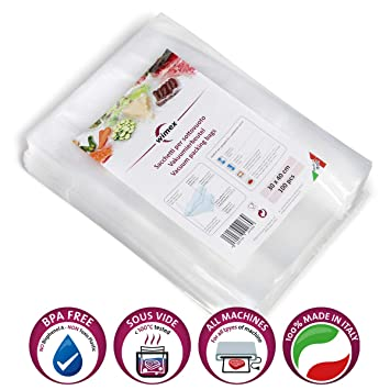 Wimex Bolsas AL Vacío para Alimentos Paquetes 100 Piezas ...
