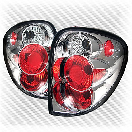 (Xtune for 2001-2007 Dodge Caravan/Town & Country Tail Lights Lamps Rear Brake Lamp Pair Left+Right 2002 2003 2004 2005 2006)