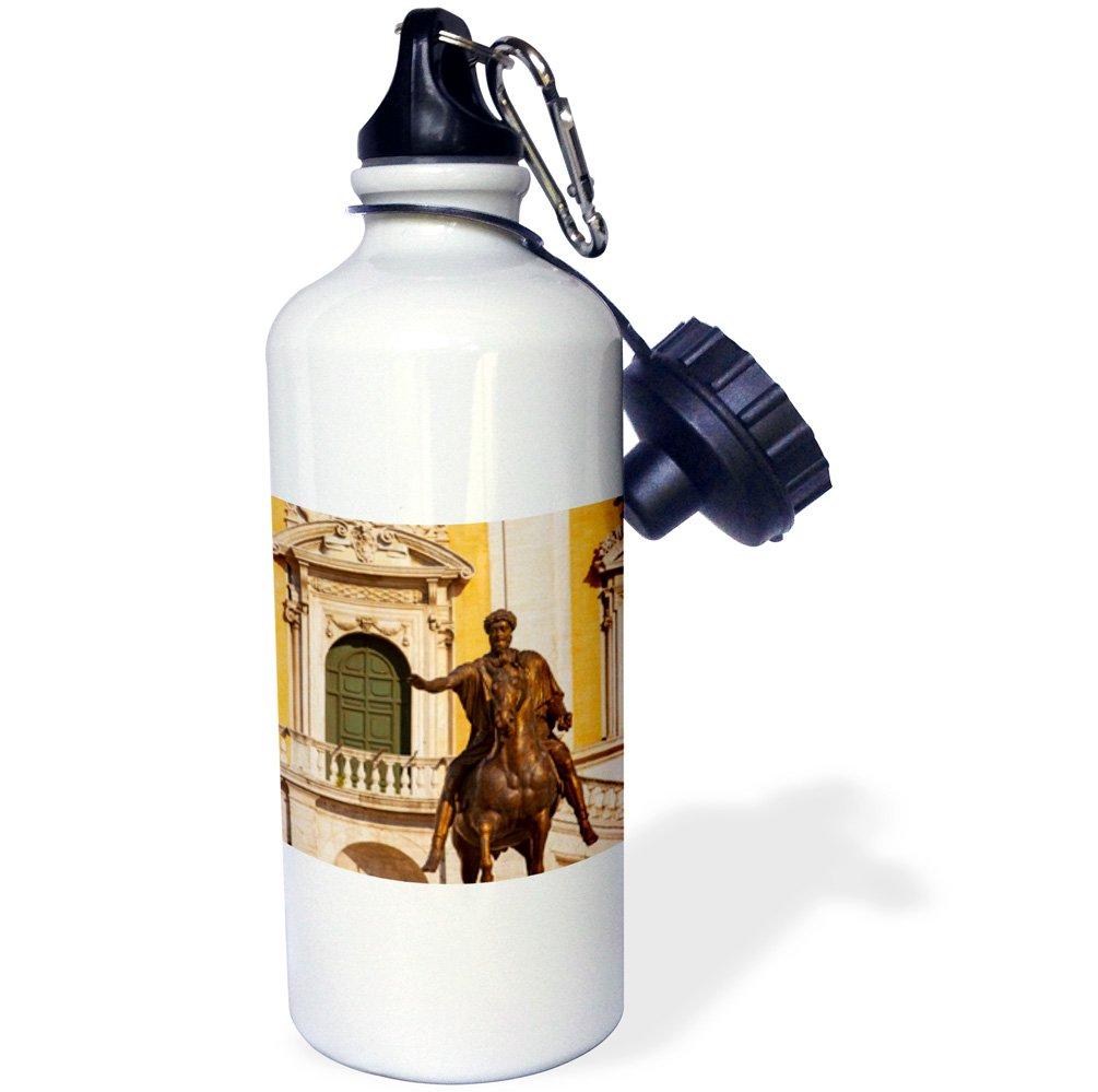 3dRose wb_208021_1''Marcus Aurelius statue in the Piazza Campidoglio, Rome, Italy'' Sports Water Bottle, 21 oz, Multicolor