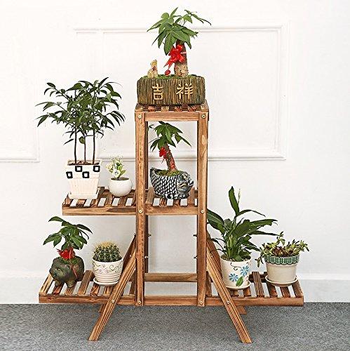 Amour Light Scaffale a fiori in multistrato di bambù massello con ripiano in legno massello