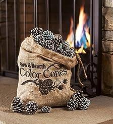 Fireplace Color Cones, Festive Fun Rainb...