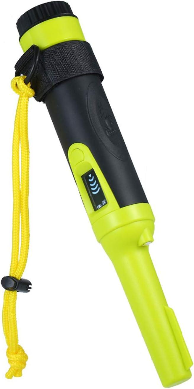 GMZS Detector De Metales, Resistente Al Agua IP68, con Puntero Portátil De Pantalla De Pantalla, Indicación De Sonido/Vibración, Sonda De Caza del Tesoro para Niños Y Adultos,Verde
