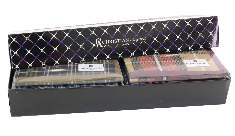 Christian Aujard Handkerchiefs 10 PCS Pure Cotton Hankies Pack Gift Set Men