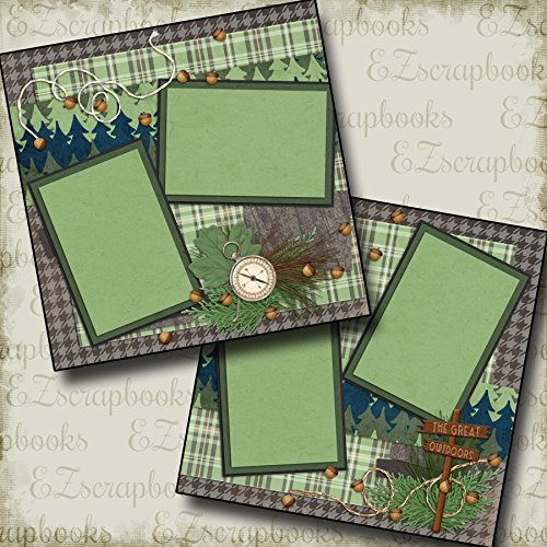 Great Outdoors Scrapbook Kit - THE GREAT OUTDOORS - Premade Scrapbook Pages - EZ Layout 2083