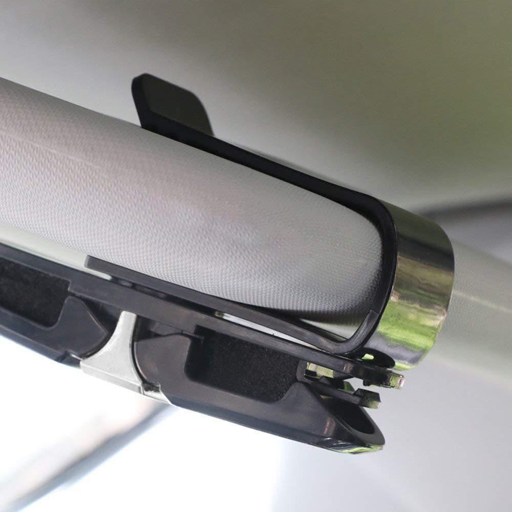 HUI JIN 2/pcs de Voiture pour Lunettes de Soleil Clip Clip Pare-Soleil pour Voiture Universel Auto Accessoire