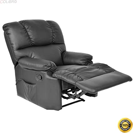 COLIBROX  Recliner Massage Sofa Chair Deluxe Ergonomic Lounge Couch Heated  W/Control Black