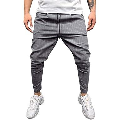 Pantalón para Hombres Slim-Fit Rayas Casual a Cuadros, Moda ...