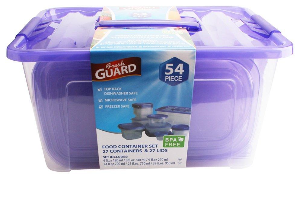Amazon.com BHPNY 54 Piece Plastic Food Container Set (Blue) Kitchen u0026 Dining  sc 1 st  Amazon.com & Amazon.com: BHPNY 54 Piece Plastic Food Container Set (Blue ...