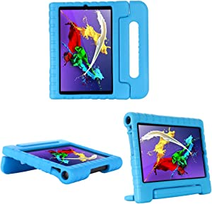 i-original Compatible with Lenovo Yoga Tab 5 10 (YT-X705F) 10.1 Inch Case,Shockproof EVA Case for Kids Bumper Cover Handle Stand,Convertible Handle Lightweight Protective Cover (Blue)