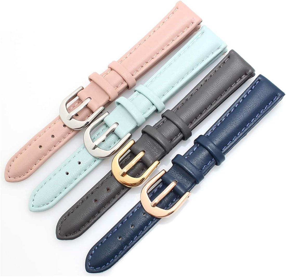 14mm/16mm/18mm/20mm Soft-Leder-Armband-Armband-einfache Art-Frauen-festes Uhrenarmband Dornschließe Armband Gray Rose Buckle