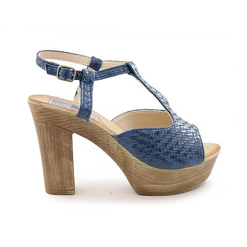 Azul Tacón BenaventeAmazon Y Complementos Sandalia Alto esZapatos wPkn08XO