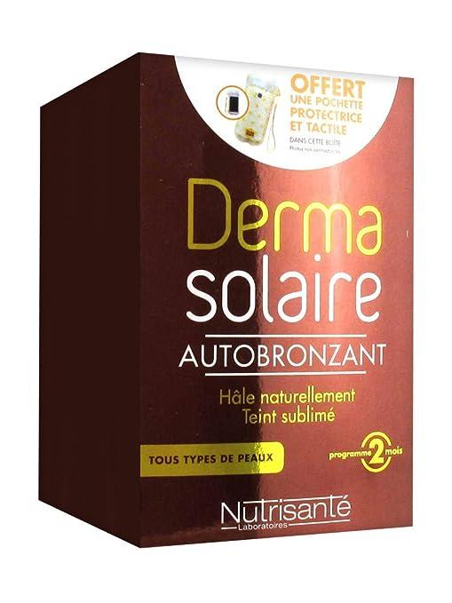 Nutrisanté Derma Solaire Autobronceador en cápsulas, 2 cajas de 60 cápsulas