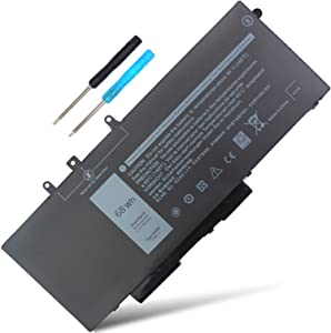 GJKNX 5480 5580 GD1JP Battery Compatible with Dell Latitude 5480 5580 5280 5590 5490 E5480 E5580 E5490 E5590 E5591 Precision 15 3520 3530 Series 0GD1JP DY9NT 0DY9NT 5YHR4 451-BBZG 7.6V 68Wh