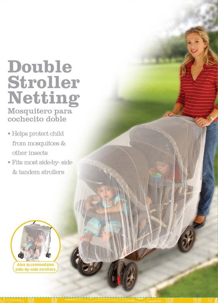 Double Stroller Accessories Baby Net Tandem Stroller Net White Universal Size Mosquito Net for Baby Double Strollers J is for Jeep Double Stroller Mosquito Net Tandem Stroller Bug Cover