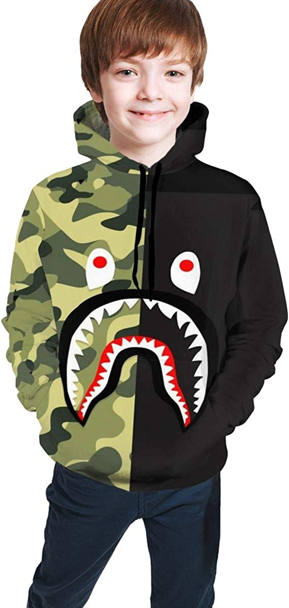Children's Hoodie Bape Blood Shark 3D Printed Men's and Women's Hoodies Sweatshirts Hoodies, Boys/Girls/Teens/Children