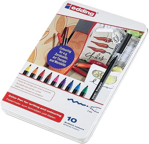 EDDING Rotulador Punta de Fibra Mod. 1300 Colores surtidos Trazo 3 mm Estuche 10 ud 1300-10S: Amazon.es: Hogar