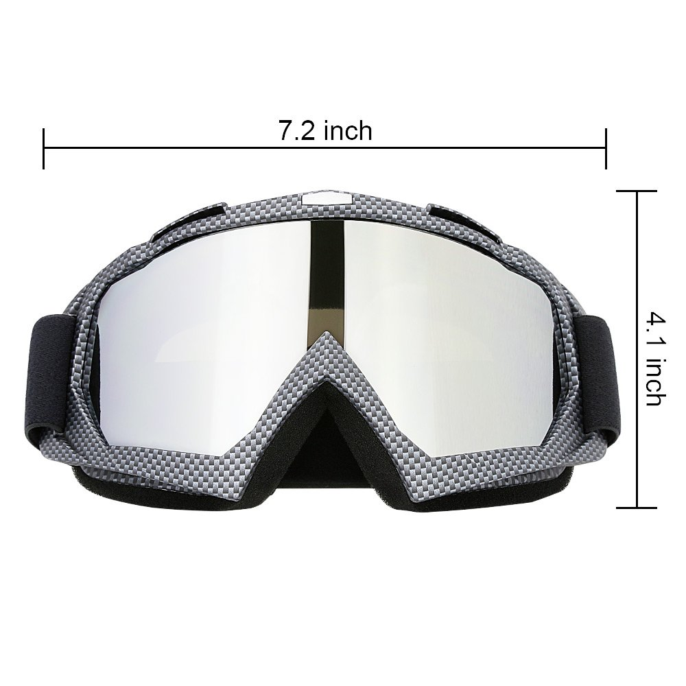 79aa066905 Amazon.com  JAMIEWIN Professtional Adult Motorcycle Motocross Dirt Bike ATV  Goggles OTG Goggle for Men Women Youth Kids (C86 Black Fiber)  Sports    Outdoors