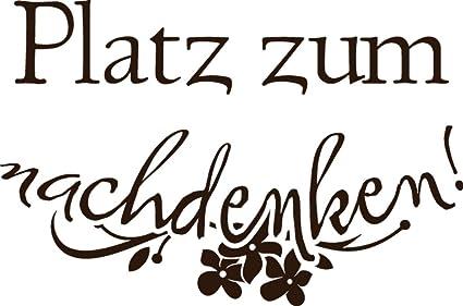 GRAZDesign 650107_30_080 Wandtattoo lustige Sprüche für Klodeckel |  Badezimmer-Tattoo an die Wand/Fliesen / Spiegel (45x30cm // 080 braun)