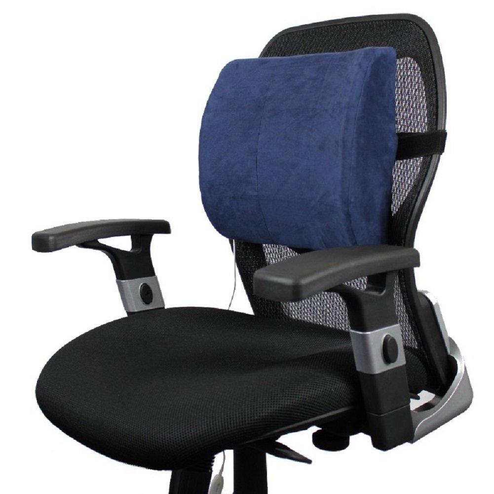 VentureHeat Heated Lumbar Back Support Cushion - Blue by Venture Heat