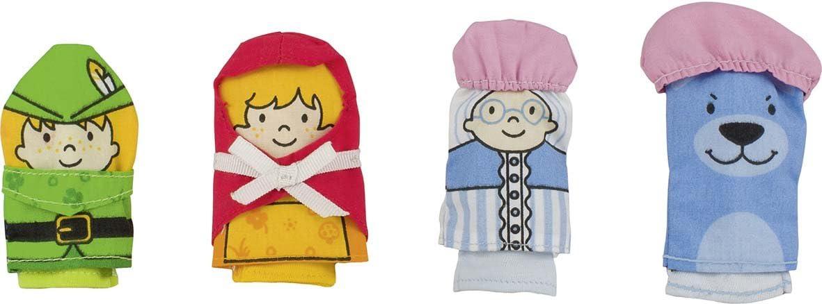 Goki 51654 - Marionetas De Dedo Caperucita Roja (4 Piezas Tela) (+3) , color/modelo surtido