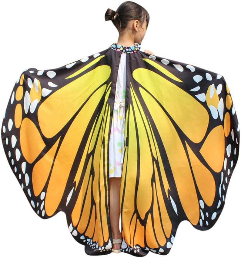 Xmiral Disfraz Chal de Alas de Mariposa para Niñas Chicas, Capa ...
