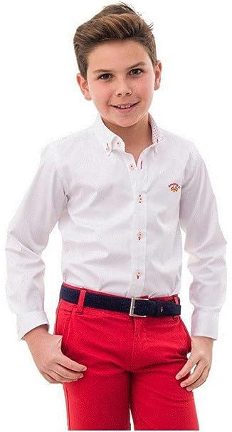Spagnolo Camisa Cuello Boton Basica Gabardina Elastica 4068: Amazon.es: Ropa y accesorios
