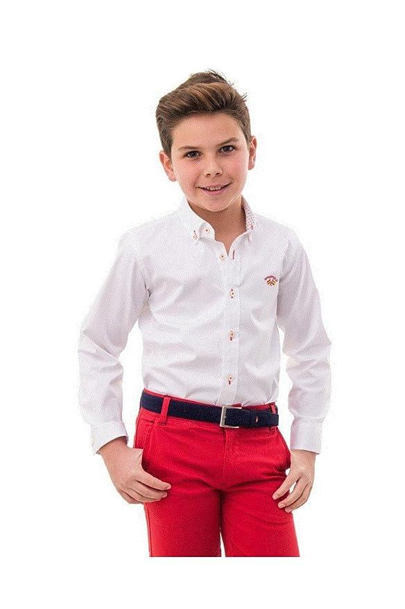 Spagnolo Camisa Cuello Boton Basica Gabardina Elastica 4068 ...