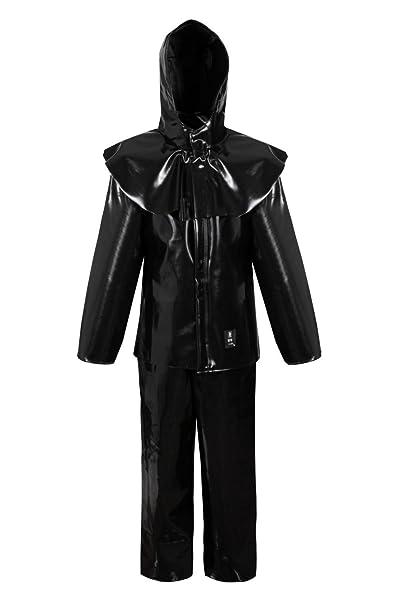 Anzug PVC als Latex Fetisch Schutzkleidung Schutzanzug Säure Basen (54 (L))