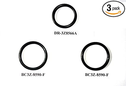 /& COOLANT RESERVOIR HOSE BC3Z-8590-F Replacement O-Rings For Ford DR-3Z8566-A