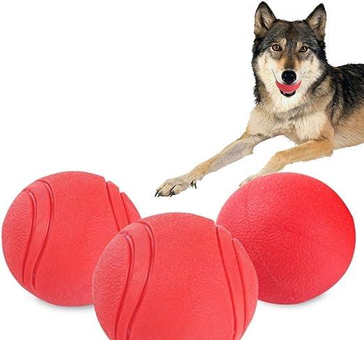 WLL Pequeño Mediano Grande Pelota de Juguete para Perros Sólido (3 ...