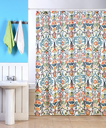 Damask Magnet (Emery Fabric Shower Curtain, Colorful Damask Floral Geometric Printed, 70