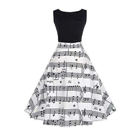SOMESUN Damen Retro 1950er Brautjungfer Party Swing Kleid Bodycon ...